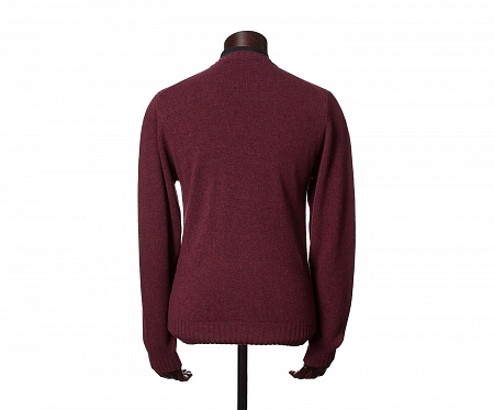 John Crew Neck Jumper Burgundy