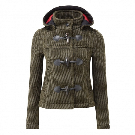 Женское пальто дафлкот Womens Mayfair Knitted Duffle Olive