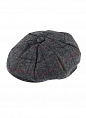 Abraham Moon Tweed 8 Piece Cap Charcoal