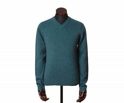 Картинка Eric V-Neck Jumper Hunter
