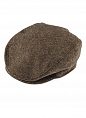 Abraham Moon Tweed Flat Cap Chocolate