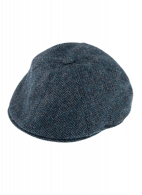 Картинка Abraham Moon Tweed Driver's Cap Navy