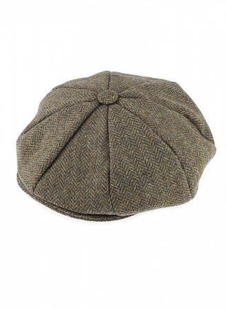 Abraham Moon Tweed 8 Piece Cap Spruce