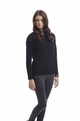 Картинка Womens Boatneck Sweater Navy