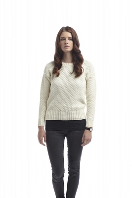 Картинка Womens Boatneck Sweater Ecru