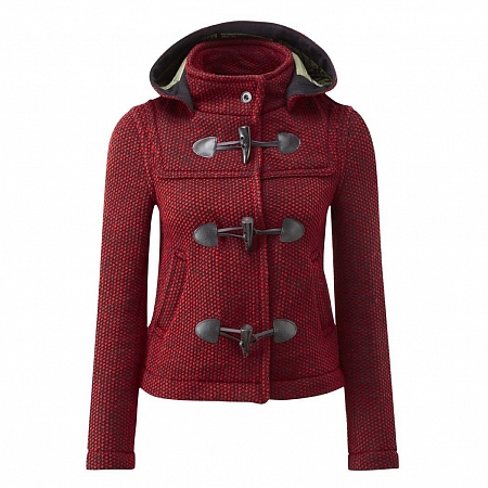 Женское пальто-дафлкот Original Montgomery Short Mayfair Knitted Red