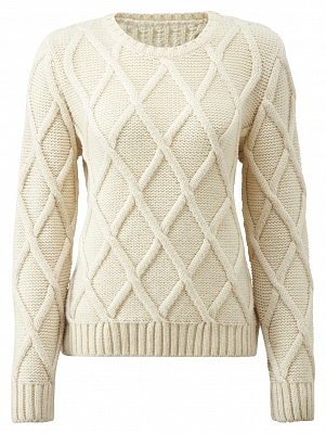 Картинка Womens Cross Check Sweater Ecru