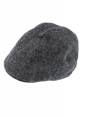 Картинка Abraham Moon Tweed Flat Cap Charcoal