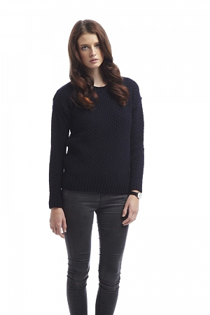 Womens Boatneck Sweater Navy