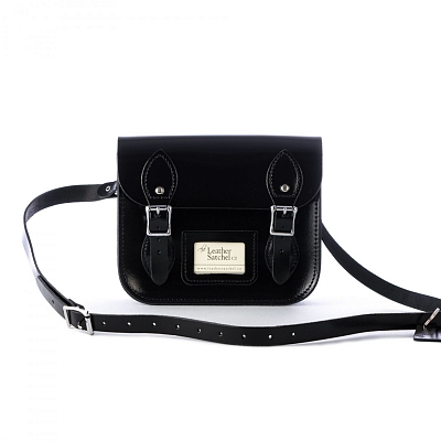 Картинка Mini Satchel Patent Pitch Black
