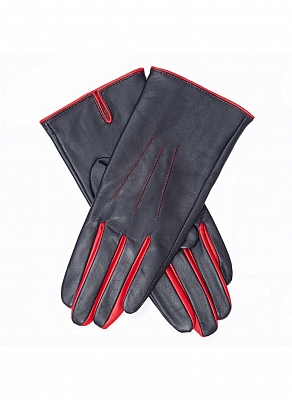 Картинка Dents Women's Leather Gloves with Contrasting Forchettes