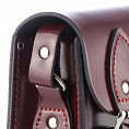 Mini Satchel Patent Oxblood Red
