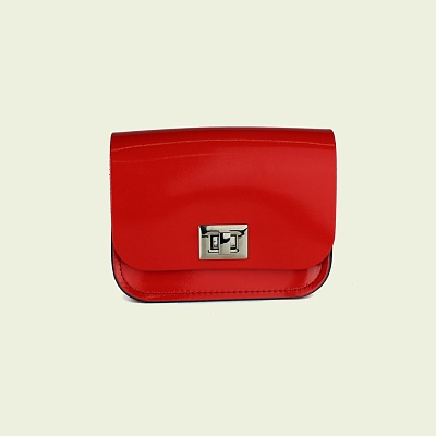 Картинка Small Pixie Bag Patent Rosy Red