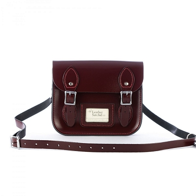 Картинка Mini Satchel Patent Oxblood Red