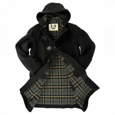 Пальто-дафлкот British Duffle Long Duffle Coat Charcoal